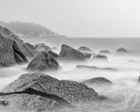 Crystal Crescent Beach, NS B&W #2